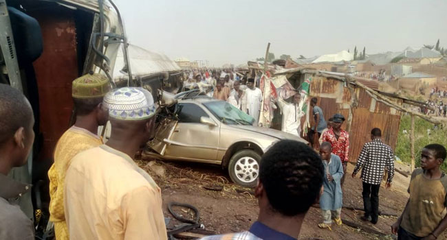 Several Injured As Tanker Somersaults In Gombe