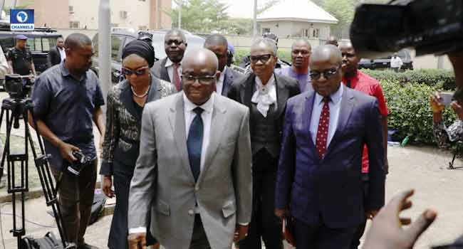 PHOTOS: Onnoghen Arrives At CCT For Trial