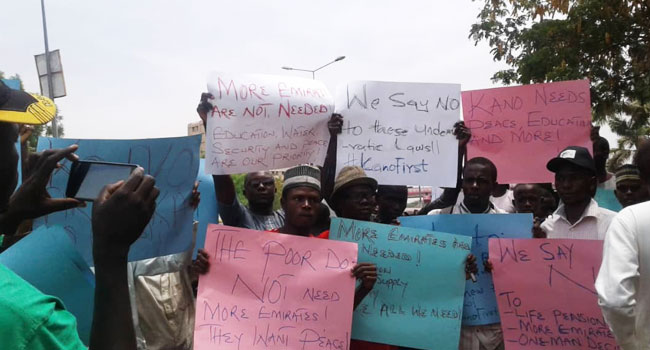 Group Protests Against Creation Of Four More Emirates In Kano