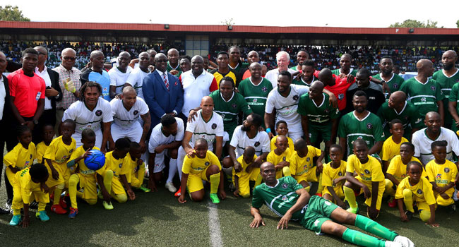 African Football Legends Honour Ambode In Testimonial Match