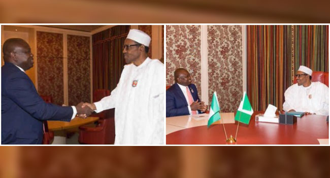 Amobde Visits Buhari, Says He Has Learnt Some Lessons As A Politician