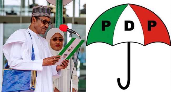 Inauguration: PDP Slams Buhari Over Failure To Address Nigerians