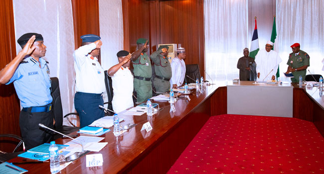President Buhari Directs Security Chiefs To Address Inflow Of Illegal Firearms