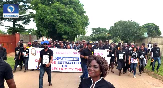 CSOs Protest Over Electricity In Edo Assembly