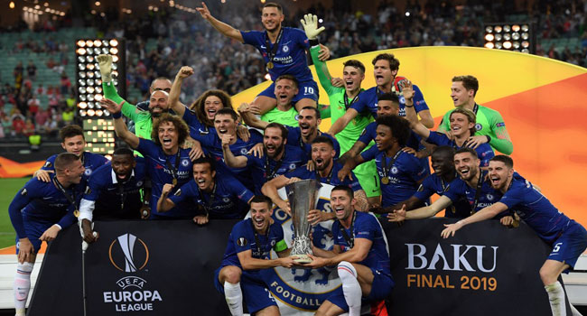 Chelsea Beat Arsenal To Europa Title As Lyon Seal Champions League Spot