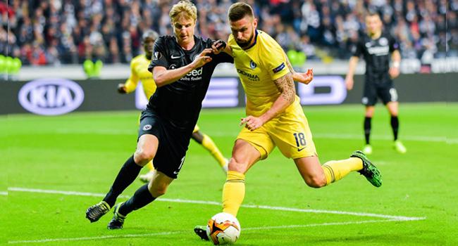 Underdogs Frankfurt Hold Chelsea 1-1 In Europa League Semis