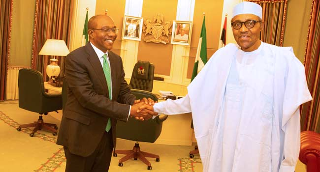 Buhari Receives Emefiele, Congratulates Him On Re-Appointment