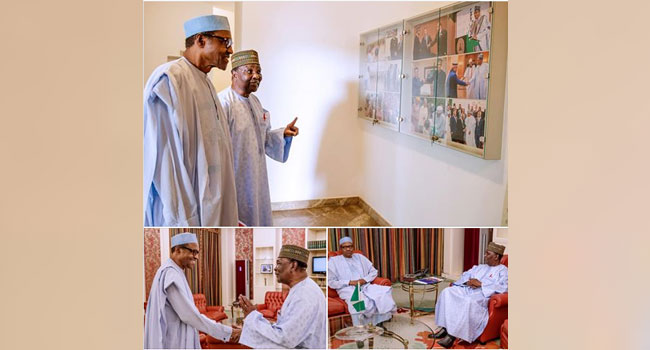 Gowon Visits Buhari In State House