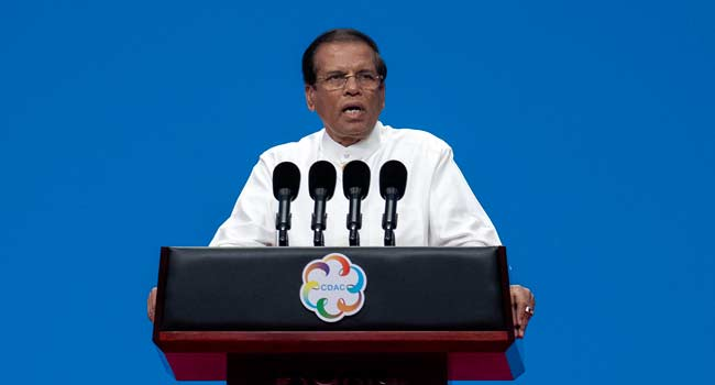 Sri Lanka President Rejects Military Deal With US
