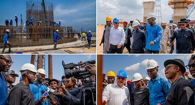 Video: Osinbajo Inspects Work On Second Niger Bridge