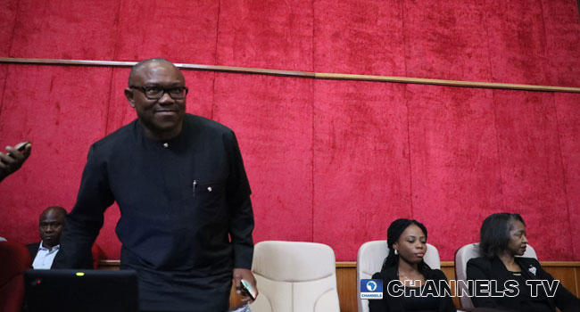 Peter Obi Attends Inaugural Session Of Presidential Election Tribunal