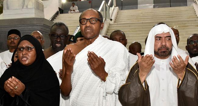 PHOTOS: President Buhari, Wife Perform Lesser Hajj In Makkah