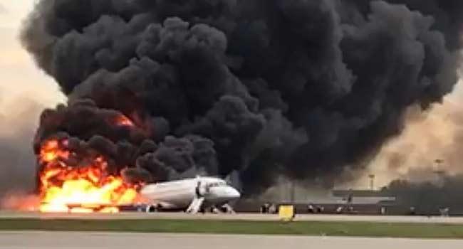 At Least One Dead In Russian Plane Blaze
