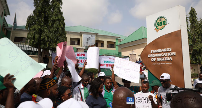 SON Workers Protest Over Alleged Poor Welfare