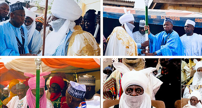 Ganduje Presents Staff Of Office To Four New Emirs