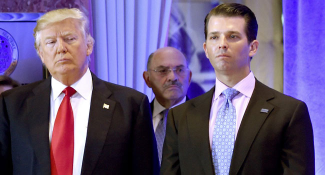 Trump's Son Subpoenaed As Congress Battles White House Over Russia Report