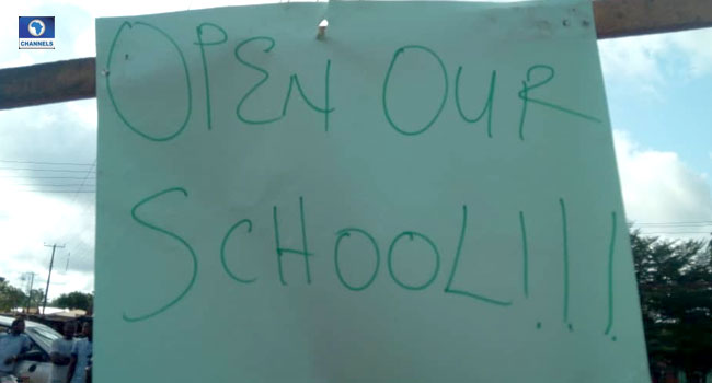 Students Protest Over Edo College Of Education Shut Down
