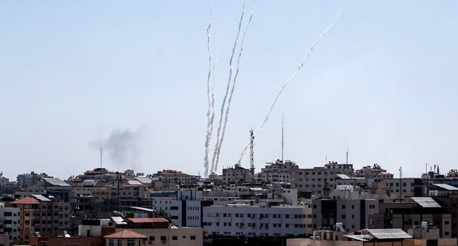 Dozens Of Rockets Fired At Israel From Gaza
