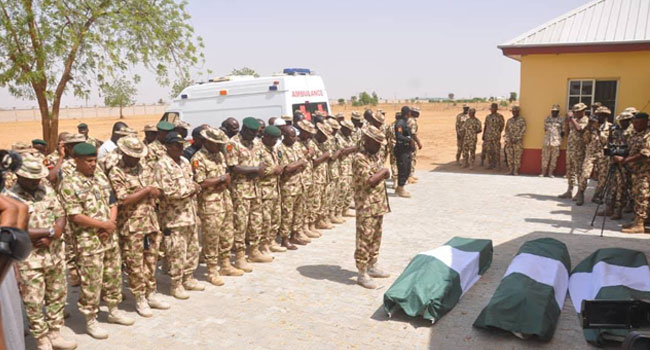 Army Lays To Rest Remains Of Officer, Two Soldiers Killed On Duty