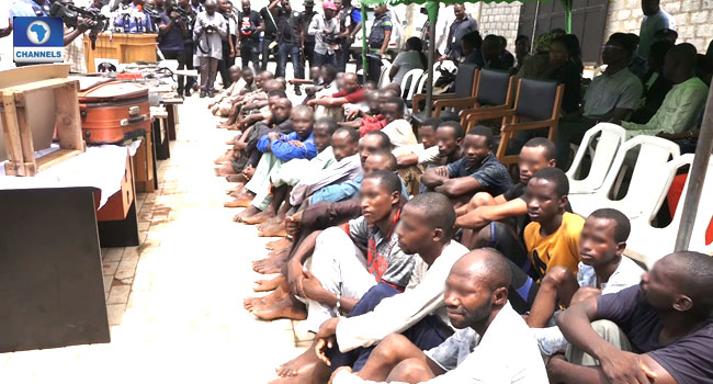 Police Parade 38 Suspected Kidnappers, Armed Robbers And Cattle Rustlers