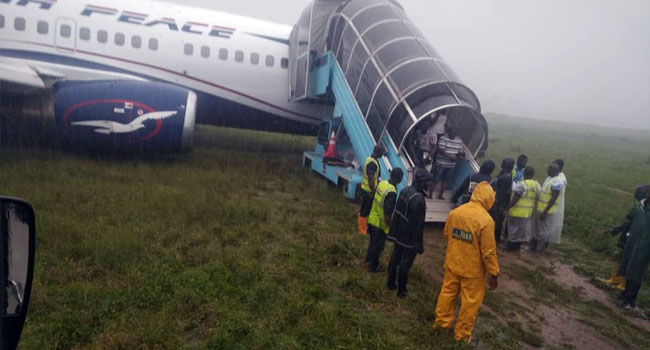 Air Peace Plane Overshoots Runway In Port Harcourt