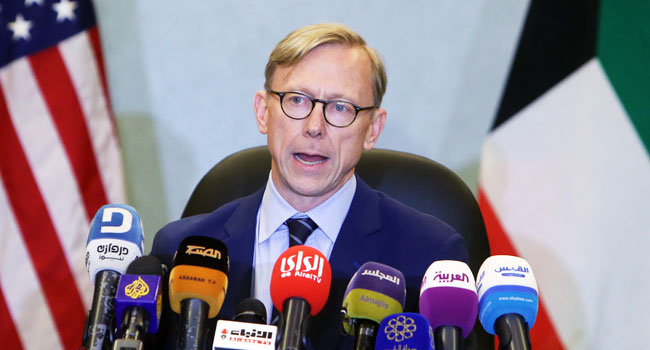 US Envoy Calls For De-Escalation Of Iran Tension