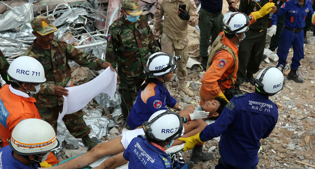 Chinese, Six Others Charged Over Cambodia Building Collapse