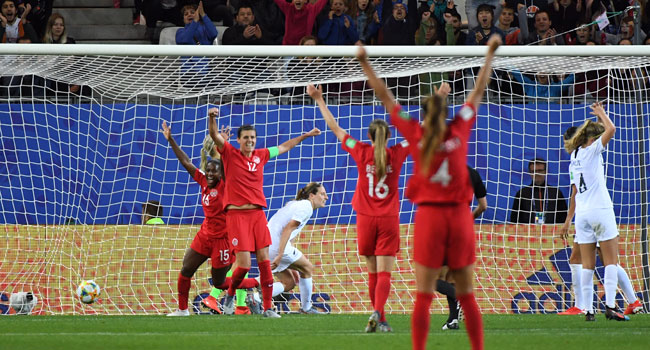 Canada Beat New Zealand To Reach Women's World Cup Second Round