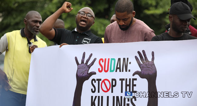 Concerned Nigerians Group Protests Over Sudan Killings