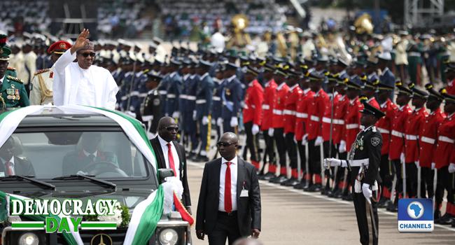 Buhari Arrives Eagle Square For Democracy Day Celebration