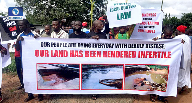 Youths Protest Over Environmental Pollution By Oil Company In Imo Community