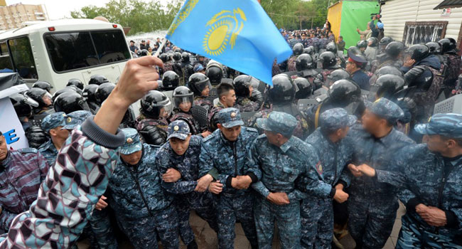 Hundreds Arrested As Kazakhs Vote For First New Leader In Decades