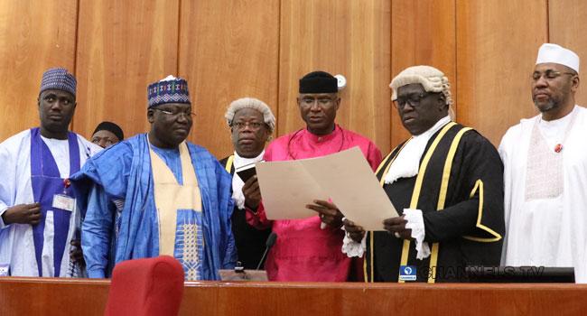 9th Assembly: Omo-Agege Sworn In As Deputy Senate President