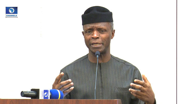 Osinbajo Defends Buhari, Says Lockdown Order Is Backed By Law