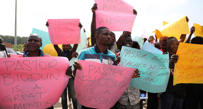 Alleged Rape: Protesters In Solidarity March For COZA Pastor, Fatoyinbo