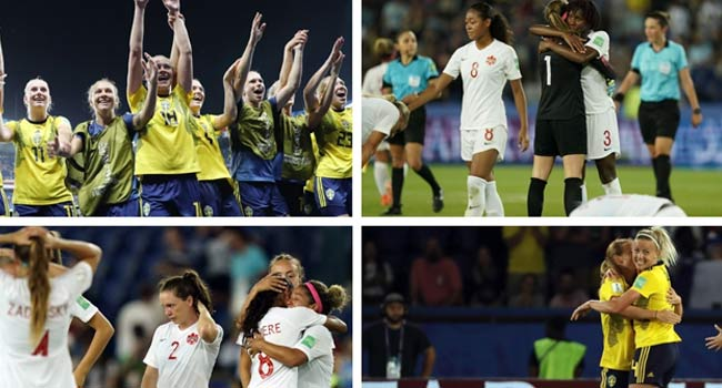Sweden Into World Cup Quarters With Narrow Win Over Canada
