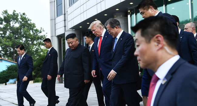PHOTOS: Trump Makes Historic Visit To South Korea