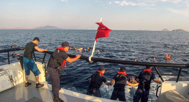 12 Killed After Migrant Boat Sinks Off Turkey