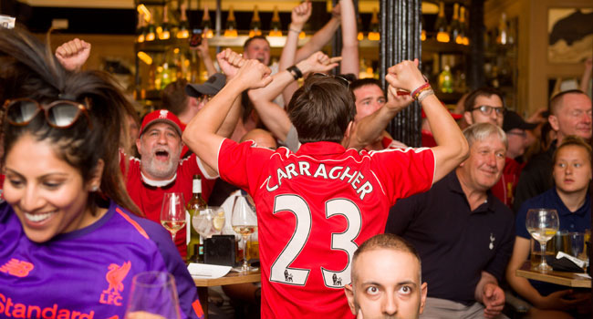 Fans Jubilant With Liverpool Win, Salah's Goal
