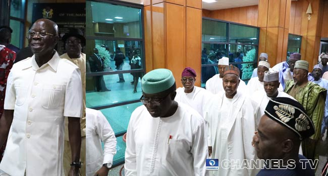 APC Governors, Oshiomole, Others Attend NASS Inauguration