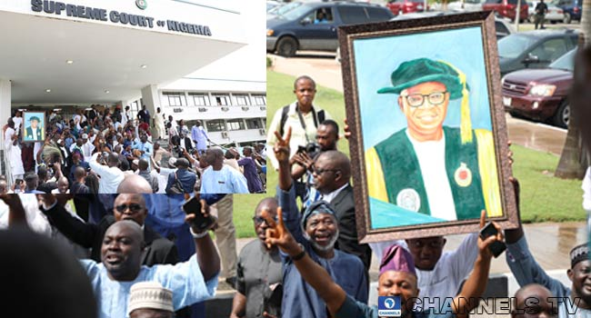 PHOTOS: Supporters Jubilate As Supreme Court Affirms Oyetola's Victory