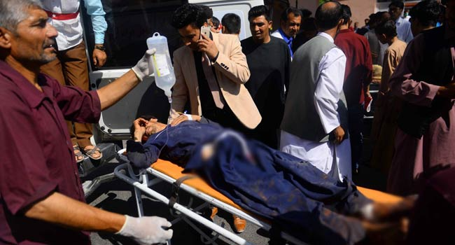 At Least 28 Killed As Afghan Bus Hits 'Taliban' Bomb