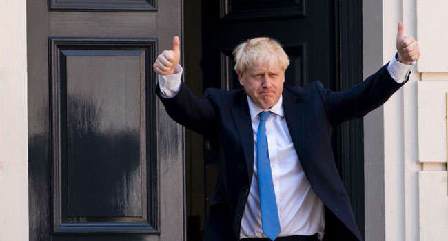 BREAKING: Johnson Enters Buckingham Palace To Become New British PM