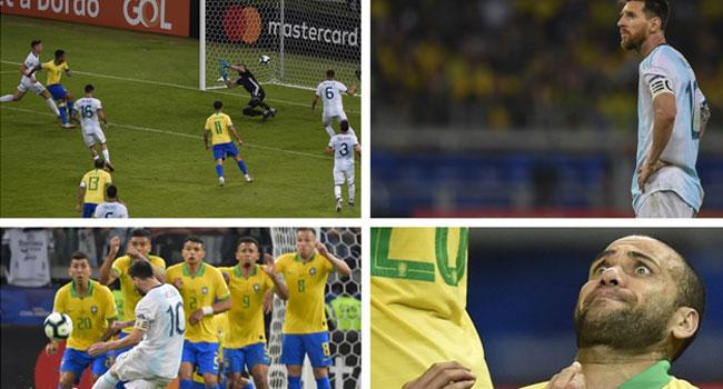 Image result for Jesus, Firmino send Brazil into Copa America final as Messi fails again