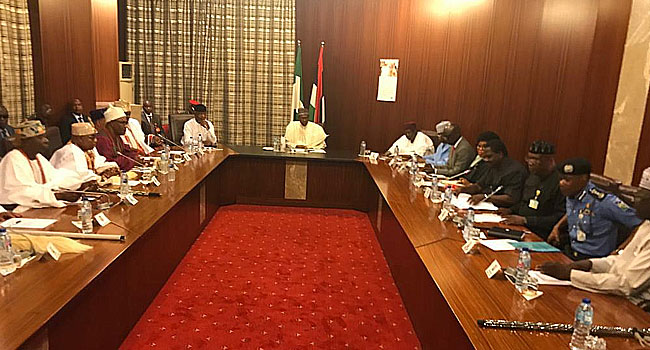Security: Buhari Meets With Ooni, Other Southwest Monarchs