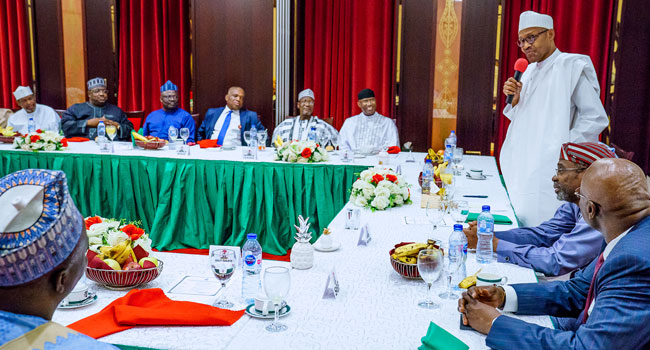 PHOTOS: President Buhari Dines With NASS Leaders