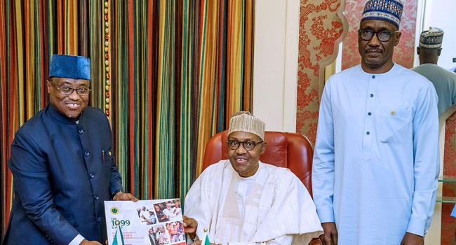 PHOTOS: Buhari Meets Kyari, Baru Behind Closed Doors