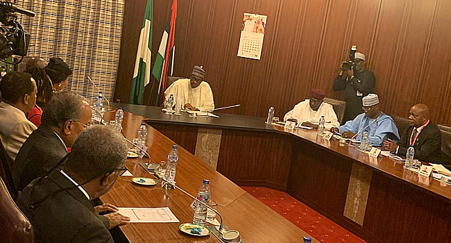 Buhari Meets With Leadership Of Lagos State Chamber Of Commerce, Industry - Channels Television