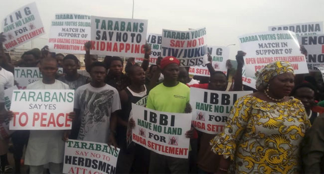 Taraba Youths Stage Protest Over Ruga Settlement