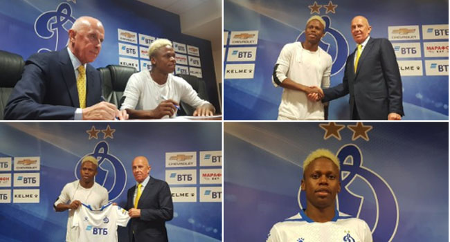 Cameroon Striker Njie Signs For Dynamo Moscow